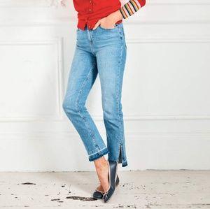 Boden Salisbury Side Split Jeans With Released Hem